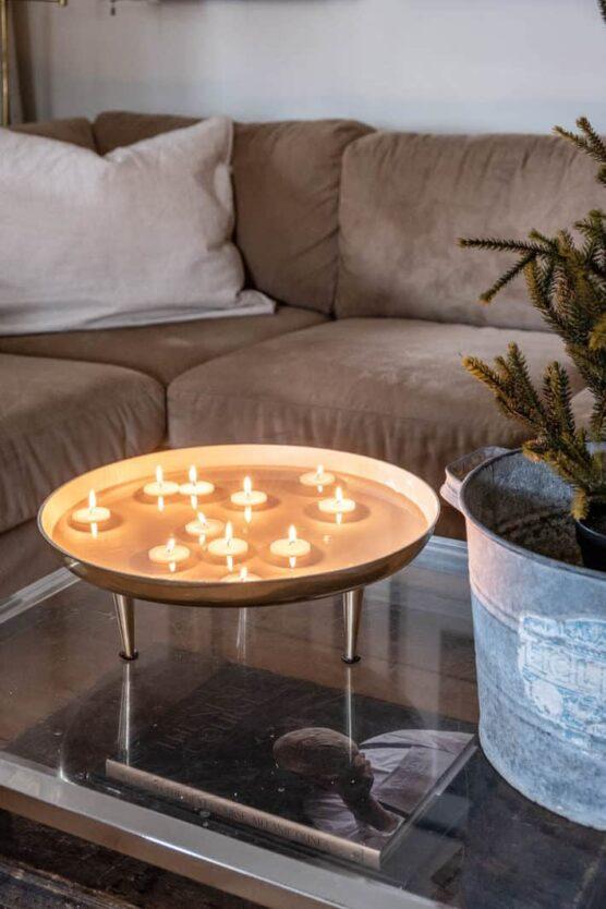 Make a floating candle setup