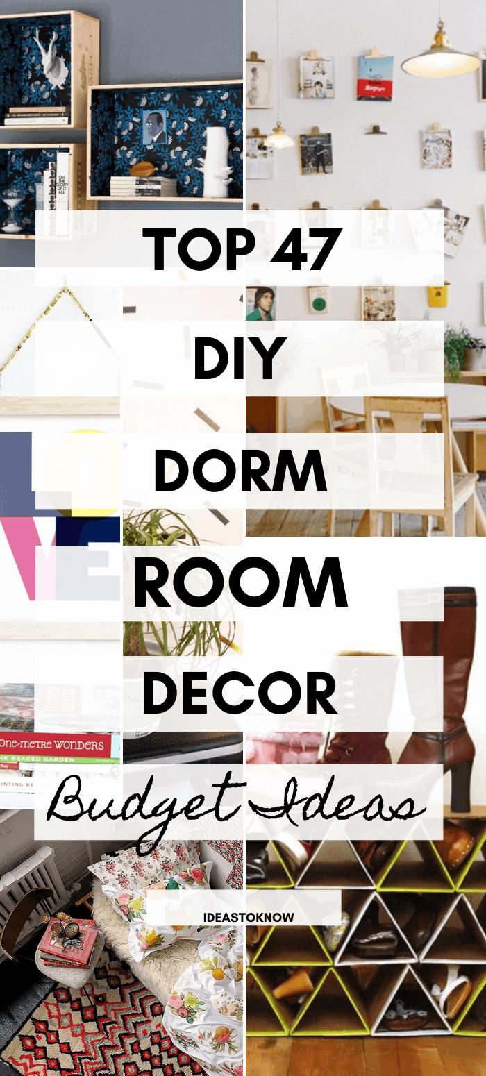 47 Best Dorm Room Decor Ideas Diy