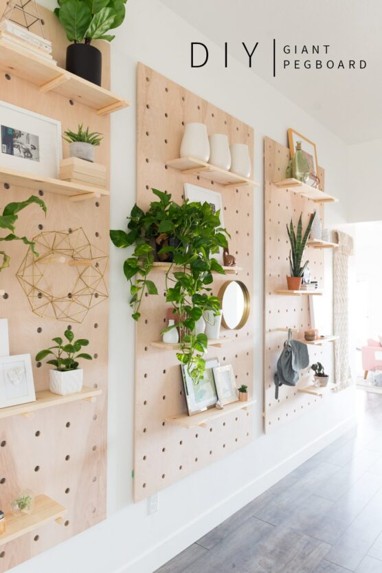 Wooden pegboard DIY