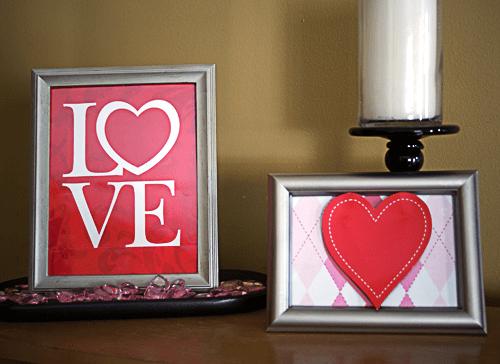 Valentine's day frame decor