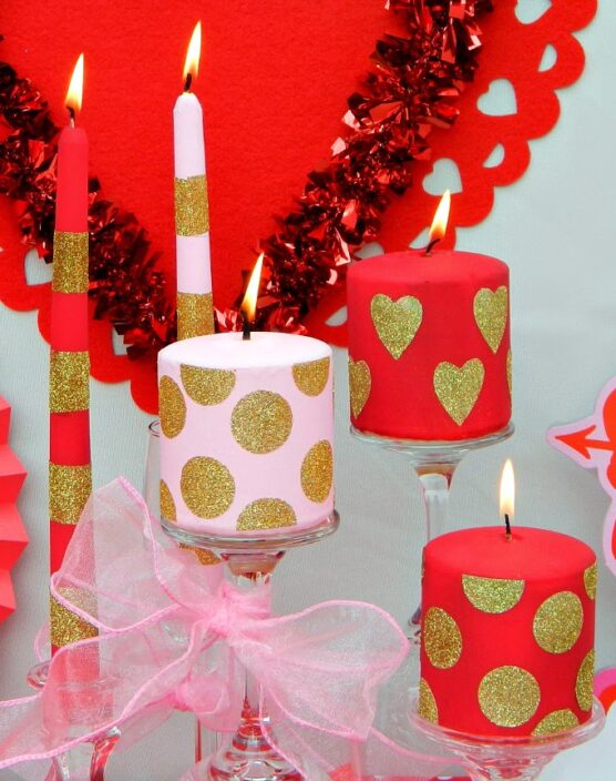 Valentine's Day candles